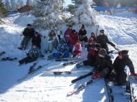 détente dans la neige